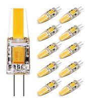 10-PACK 1.6W COB G4 LED Bulb, AC/DC12V, G4 Bi-pin Base, 20W Halogen Equivalent