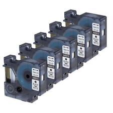 5PK 45013 Compatible for Dymo label maker tape D1 Black on White 12mm 23ft