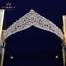 Royal Zircon Tiaras Crowns for Brides Wedding Headpieces Evening Hair Accessory