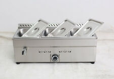 Easy to Operate -3-Pan Lp Gas Food Warmer for Commercial&Household, Stainless