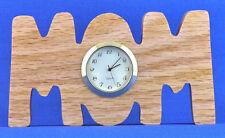 Mom Mini Clock - Hand cut w/ choice of insert