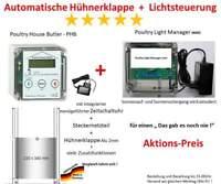 Automatische Hühnerklappe - PHB mit Klappe + Poultry Light Manager mini!