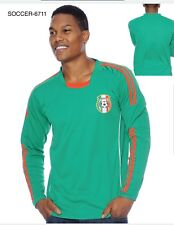 Mexico Men's Soccer Green Long Sleeves Jersey New With Tags 2018 6711