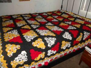 Full Size Blanket Quilt 100% Handmade Full/Queen Multicolored