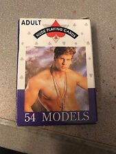 Vintage 54 Models Adult Nude Male Playing Cards Deck #345