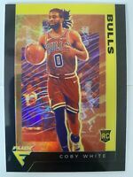 🔥1 OF 1🔥 2019-20 Panini Chronicles Flux Black Prizm Bulls Coby White Rookie