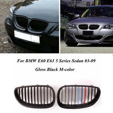 Gloss Black M Color Front Hood Kidney Grille Grill For BMW E60 E61 M5 2003-2010