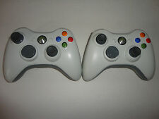 2 pcs Original OEM Genuine White Microsoft XBox 360 Wireless Controller Working