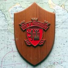 OLD Merchant Navy Norway Fredrikstad MASTER MARINERS Ship Crest Shield Plaque