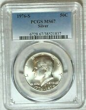 1976-S Silver Kennedy Half Dollar PCGS MS67 : Nice Detail And Silver Luster