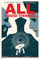 Star Trek The Next Generation All Good Things Episode TV Show Poster - 12x18