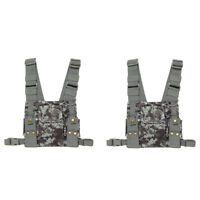 2X CS Radios Chest Front Pack Pouch Holster Carry Bag For Baofeng Walkie Talkie