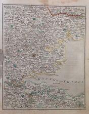 Antique Map 1794 Cary's Thames Estuary Essex Kent Colchester Chelmsford Dartford