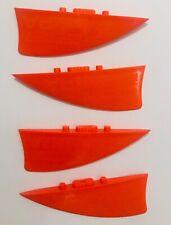 Nobile kitesurfing kiteboarding fins set - 40mm/1.6inch set of 4 fins - Nobile