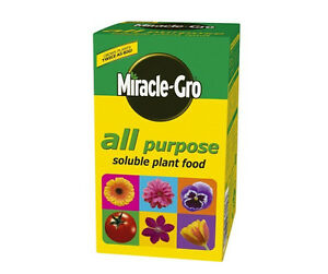 Miracle-Gro Soluble Plant Food. All Purpose Growth Fertiliser. Garden Flowers.