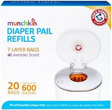 Munchkin Arm Hammer Diaper Pail Snap, Refill Bags, 20 Bags, Holds 600 Diapers