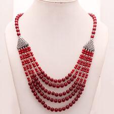 Russian Cuprite Gemstone Silver Tone Bohemian Necklace Vintage Retro Jewelry New