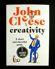 NEW SIGNED JOHN CLEESE CREATIVITY A SHORT AND CHEERFUL GUIDE 1ST EDITION BOOK