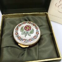 Vintage Crummles Enamel Trinket Case. Primrose. NIB. Beautiful Gift. England