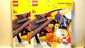 Lot of 2 Lego Pocket Folders (2 Pack) & 2 Sticker Sheets School Supplies New