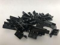 LEGO 28802 Black x 30 1x2 1x4 with 2 Rounded Corners Bracket 2436 2436b Part Moc