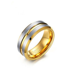 Band 8mm Fashion Jewelry Size 10 Men's Tungsten Carbide Wedding Engagement Rings