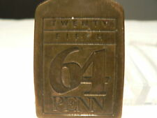 University of Pennsylvania  25th reunion metal tag