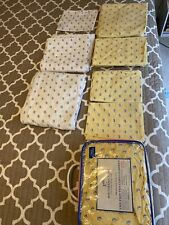 Set Of 3 Southern Tide Skipjack Twin Xl Extra Long Sheet Set Cotton Fish