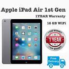 "Apple Ipad Air 1st  Generation 16 Gb Wifi 9.7""space Grey 12m Warranty A Grade"