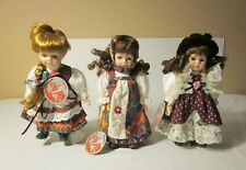 """Lot of 3 """"Dolls of the World"""" by Barbara Lee -8"""" - Hungary - Romania - Greece"""