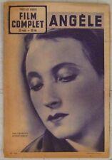 Revue Le Film Complet n° 308 Angèle Orane Demazis Fernandel