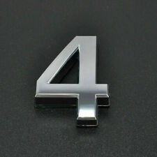 """2"""" 3"""" Self Adhesive Silver Door Number Plaque Numeral Signs Sticky Digits 0-9 UK"""