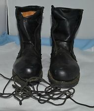 Vibram Black Leather Steel Toe Combat Boot Work Motorcycle Hunting Made in USA