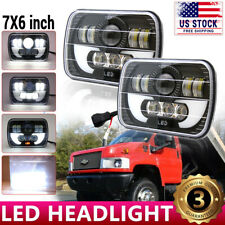 "For Chevy Express Cargo Van 1500 2500 3500 Truck 7''x6"" 6x7"" LED Headlight Pair"