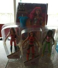 WWE WrestlingDivas - New  In Box Lot of 4: Sasha Banks, Brie, Nikki & Naomi