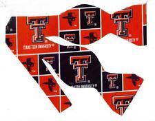 "(1) BOW TIE - TEXAS TECH ""Masked Rider"" (BLOCKS)"