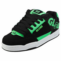 Globe Tilt Mens Black Green Suede & Synthetic Skate Trainers