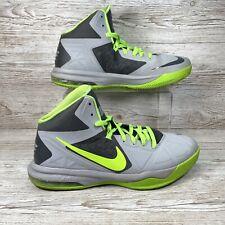Nike Air Max Body U Mens Basketball Shoes UK 9.5 Wolf grey Yellow 599350-003