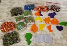 Perler Beads and Pegboard Large Lot Craft Beads Christmas Colors Perler bead