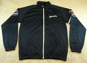 FILA Jacket Adult Large Blue Athletic Full Zip Pockets Gym RETRO Running Mens