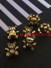 PJ351 5pc Tibetan Gold bear Bead Charms Accessories wholesale