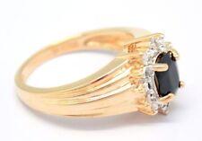 Anelli di lusso con gemme blu, con Misura anello 16