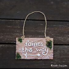 Fairy Garden Sign - Fairies This Way