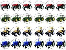 24 tractors boy farm bun fairy cupcake toppers birthdays party edible paper