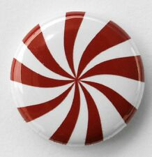 "PEPPERMINT - Pinback Button Badge 1"" Red Mint"