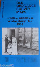 Old Ordnance Survey Map Bradley Coseley & Wednesbury Oak 1901 S67.04 Brand New