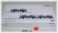 Märklin 46400 Set de vagones plataforma con teleros carga de DB 3 PIEZAS #