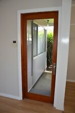 RED CEDAR TIMBER FRENCH DOOR, 900Wx2100H, STAINED & OILED, HUNG, PRE ORDER