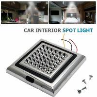 42 LED Carré Plafonnier 12V Campeur Lampe Lumières Interne Voiture Bateau Blanc