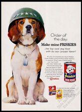 1960 Us Army dog photo Friskies dog food vintage print ad
